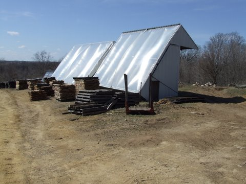 solar kiln for some of the lumber that is milled